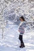 Pregnant girl winter 2 — Stock Photo