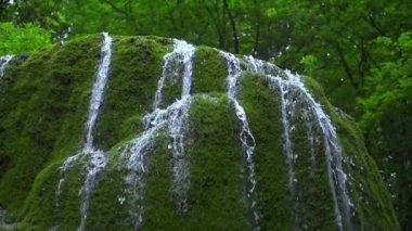 Beautiful Waterfall in Mountains — Stock Video
