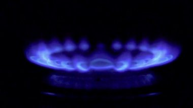 Gas from kitchen gas stove — Stok video