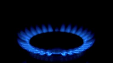 Gas from kitchen gas stove — Stock Video