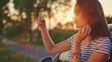 Woman using digital smartphone — Stock Video