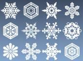 Jeu d'icônes de flocon de neige — Vecteur