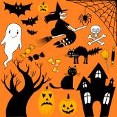 Halloween Elements Collection — Stock Vector