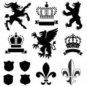 Heraldry Ornaments — Stock Vector