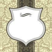 Shield Frame on Damask Background — Stockvektor