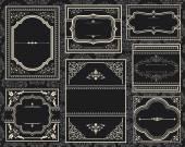 Ornate Vintage Frames — Stock Vector