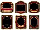 Gold Vintage Labels — Stock Vector