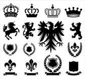 Heraldiek ornamenten — Stockvector
