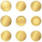 Selos de ouro — Vetor de Stock