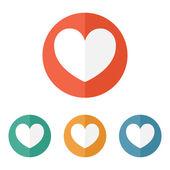 Icono del corazón de san valentín — Vector de stock
