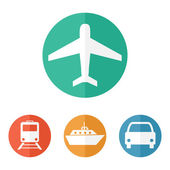 Vector illustration of transport related icons — Stockvector