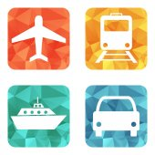 Vector illustration of transport icons — Stock Vector
