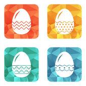 Conjunto de huevos de pascua decorativos — Vector de stock