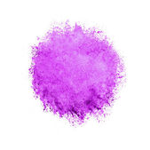 Colorful watercolor circle, pink drop on white background. — Stock Photo