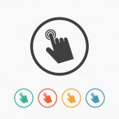 Cursor hand icon. Click sign — Stock Vector