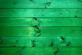 Green wooden plank texture as background — Stock Photo