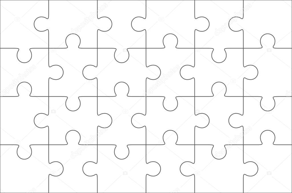 Puzzle Piece Template