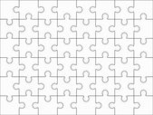 Jigsaw puzzle blank 6x8 elements, fourty-eight vector pieces. — Stock Vector