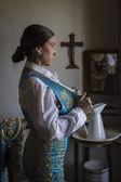 Room prepared to dress torero before you go to Bullring — Stock Photo