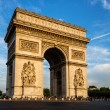 Arch of Triumph (Arc de Triomphe) with dramatic sky — Stock Photo #54168181