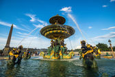 Fountain of River Commerce and Navigation at the Place de la Con — Stock Photo