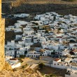 Lindos town as seen from acropolis — Stock Photo #65045001