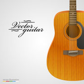 Acoustic guitar bright background. — Stock Vector