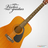 Acoustic guitar bright background. — Stockvektor