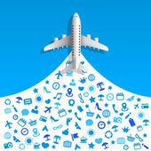 旅游服务图标 — 图库矢量图片