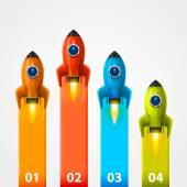 Space rocket launch info — Stock Vector