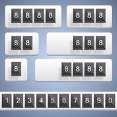 Numeric scoreboard. Vector — Stock Vector