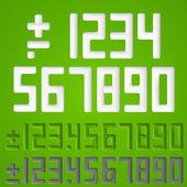Number sings. Vector — Stock Vector