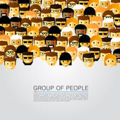 Large group of people — Stock Vector