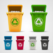 Ecological trash set — Stock Vector