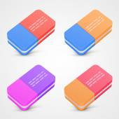 Eraser set color — Stock Vector