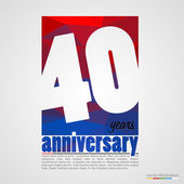 Anniversary modern colorful abstract background — Stock Vector