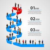 Business people standing in line. — Stock Vector