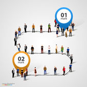 Business people standing in a line — Stock Vector