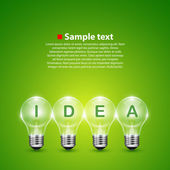 Vector idea light bulb on the background — Stockvector