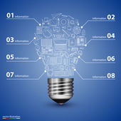 Lamp in icons. Vector — Stockvektor