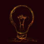 Creative idea of fire style — Stock vektor