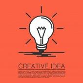 Creative idea of flat style — Stock vektor