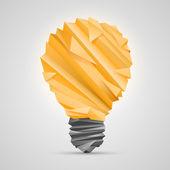 Creative idea of origami lamp — Stock vektor