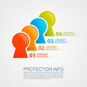 Protection info — Stock Vector