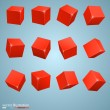 Colored cubes 3d — Stock Vector #64255135