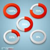 Load in a circle — Vettoriale Stock