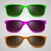 Sunglasses color. Vector — Stock Vector