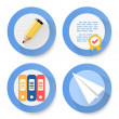 Set of flat document icons — Stock Vector #64599333