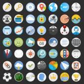 Set flat circular icons. — Stock Vector
