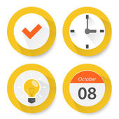 Set of flat time icons — Stock Vector